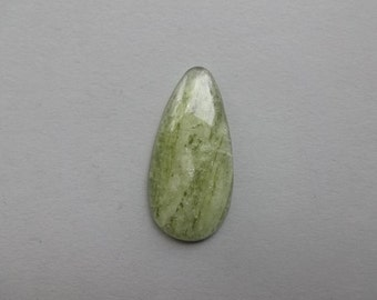 Green sheen Apatite cabochon 42x21 mm - natural stone gemstone cabochon jewelry supplies