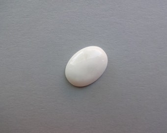 Cacholong Milk Opal oval cabochon 24x17 mm