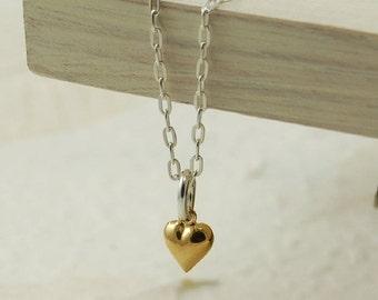 Tiny Gold Heart Necklace (NL046) ~ Bridesmaid, Wedding, Anniversary, Birthday Gift