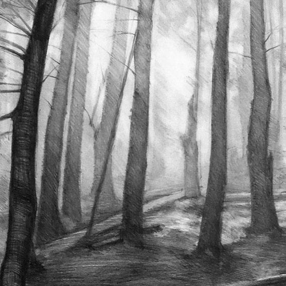 dark forest print by katarzyna kmiecik by