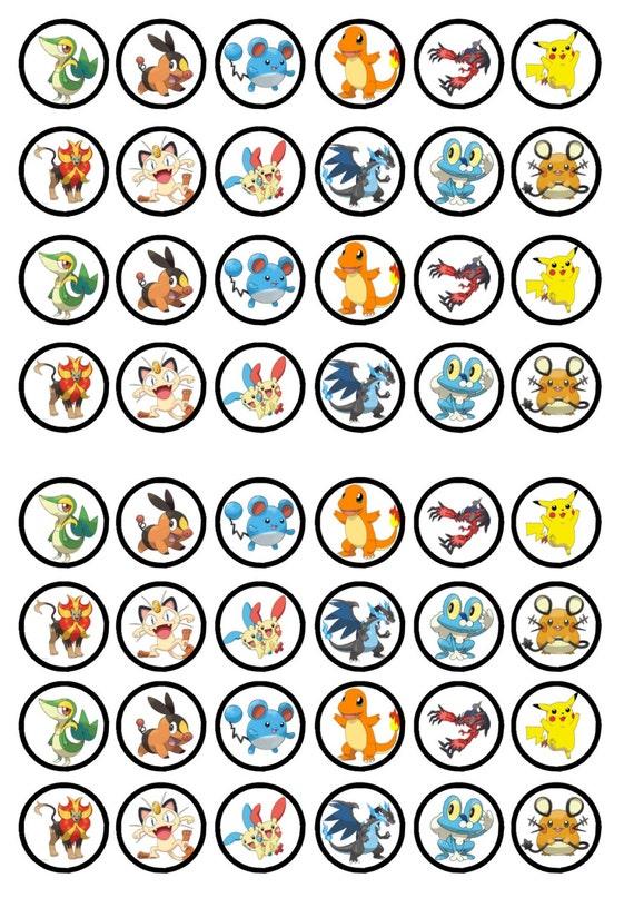 Pokemon Birthday Edible Image Cupcake Toppers | Birthday Wikii