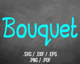Bouquet Font Design Files, Silhouette Studio, Cricut Design, Brother Scan Cut, Scal, DXF File, SVG Font, EPS File, Svg File, Silhouette Font