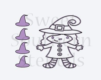 Witch PYO Cookie Stencil