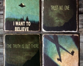 X-Files Coaster or Decor Accent