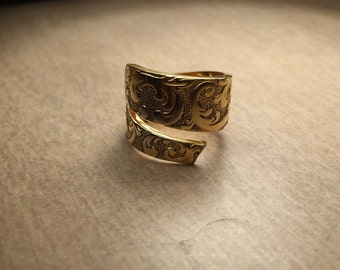 24 ct gold plated spoon ring