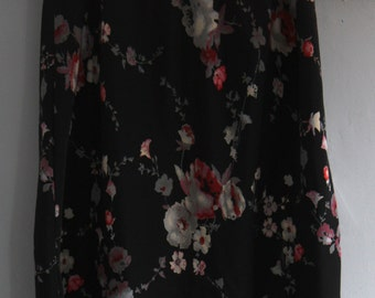 Used Woman's Clothing Black Floral Skirt