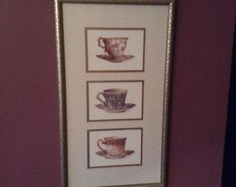Set Framed Tea cup prints