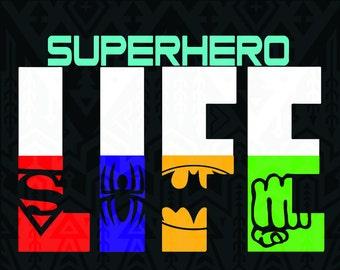 Super Hero svg ,superman svg , batman svg, captain america svg, hulk svg,Life svg,silhouette,cutting file, studio file,Life SVG Design