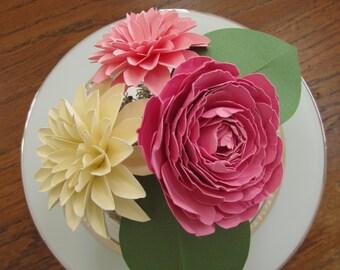 Paper Flowers Centerpiece - Small