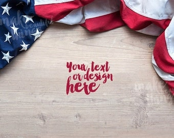 Desktop styled stock photography / Instant download / USA flag / #0905