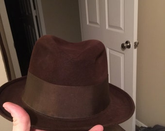 Brown fedora  made by Stetson