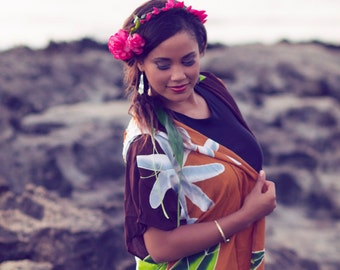 Brown Hoodie Kimono