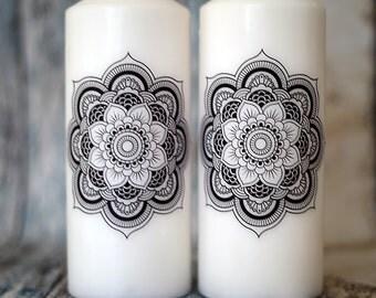 Mandala Candle