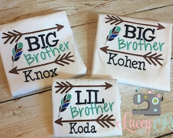 Personalized custom big brother shirt, little brother, big bro, little bro