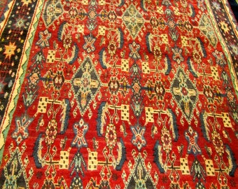 Semi Antique Persian Qashgai Oriental Rug.