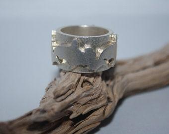Hammer Head Ring Silver 925