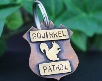 Squirrel Patrol Dog Tag, Pet ID Tag, Dog Tags for Dogs, Personalized Dog Tag, Dog Name Tag, Mixed Metal Pet Tag, Pet Tags, New Pet Gift