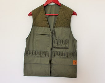 Quality Hunter Vest Brand SOMLYS Green Shooting Vest Gardener Jacket Country Comfortable Fisherman   Waistcoat Size  Medium
