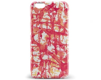 1378 //Orange Yellow White Watercolor Abstract Phone Case iPhone 5/5S, 6/6S, 6+/6S+ Samsung Galaxy S5, S6, S6 Edge Plus, S7
