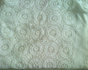Old hand made crochet tablecloth