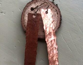 Rectangular Copper Earrings