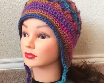 Rainbow Twist Hat