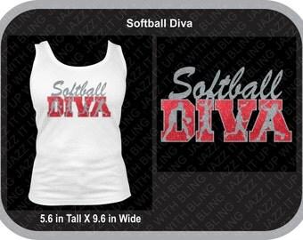 Softball DIVA created in Glitter Vinyl