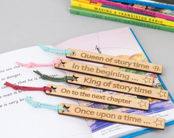 Gift for a booklover - a Personalised wooden Bookmark 'In Your Own Words' - lovely gift for children - literary gift for book lover