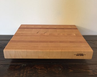 End Grain Cutting Board with Built-In Handles