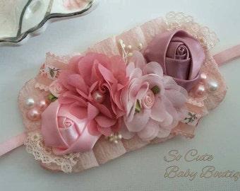 Baby headband, Newborn headband, Toddler headband, Infant headband, Baby girl headband, Newborn photo prop