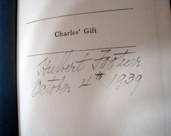 Charles Gifts' Signed by Author Footner
