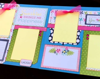 12x12 Premade Scrapbook Page, Summer scrapbook page, Little Girl Scrapbook Page, Scrapbook Premade Page, 12x12 Scrapbook Layout, summer page