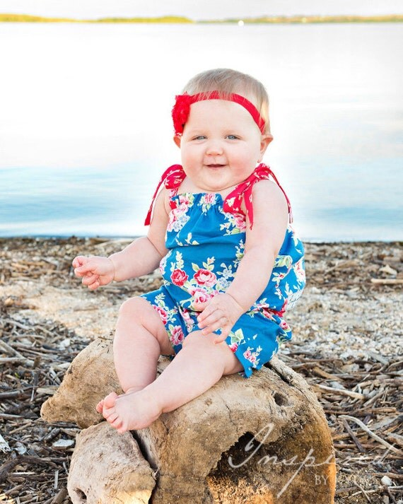 Baby Marlie's Romper. PDF sewing patterns for girls sizes NB-12