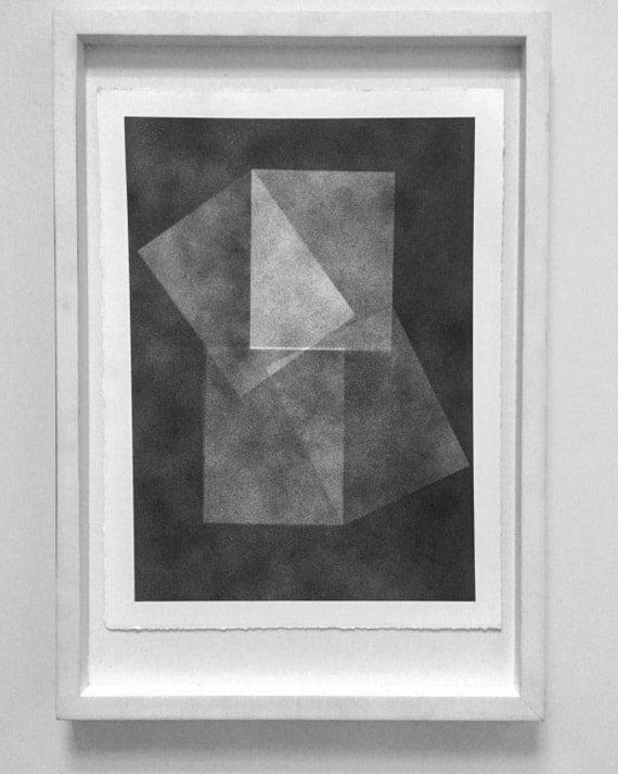 Unique Monoprint on rag paper unframed