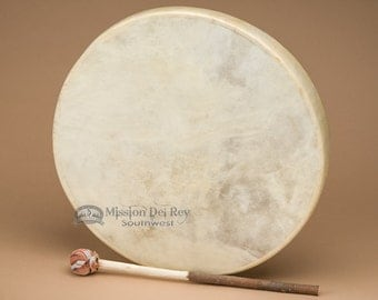 """Native American Style Hand Drum 16"""" -Tarahumara"""