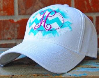Monogrammed Cap-Ladies Cap-White-Monogrammed Hat-Summer-Baseball Cap-Monogrammed Cap-Summer Cap-Cap With patch-Cap-Monogrammed Birthday Gift