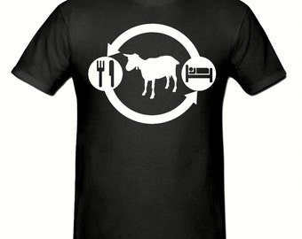 Eat Sleep FARM,GOAT t shirt,men's t shirt sizes small- 2xl, FARMING men's t shirt