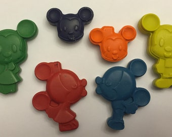 Mickey and Minnie Crayons * Set of 6 pieces * Perfect for Party Favors * Stocking Stuffers * Small Gifts