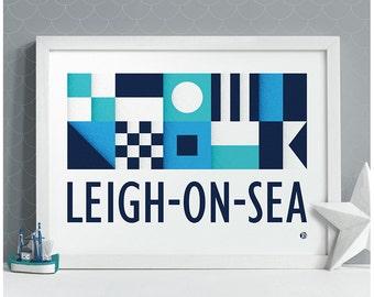 Nautical Flags print Leigh-on-Sea