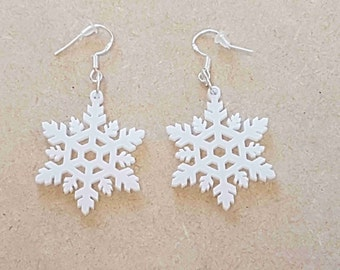 Snowflake Earrings - Acrylic