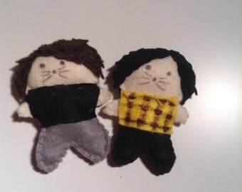 Dan and Phil pocket dolls (Phil Is Not On Fire 1)