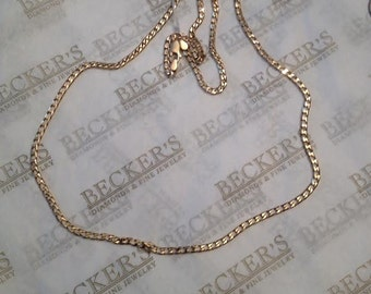 "Vintage 14k yellow gold app. 2.6mm wide Curb Link Chain Necklace, 25.75"", 11.97 grams"