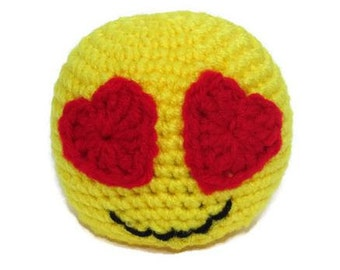 Crochet Emoji, Emoji plush, MADE TO ORDER