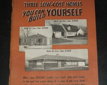 Popular Mechanics Do It Yourself Booklet No. 12 Low Cost Homes Vintage Magazine