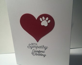 Sympathy card for loss of a beloved pet