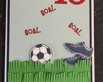 football birthday card perfect for boys and men