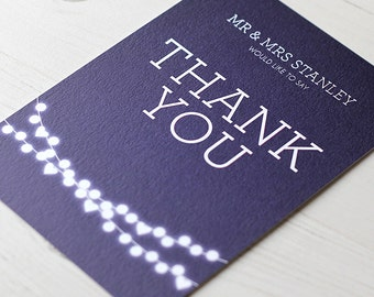 Winter Lights Thank You Card