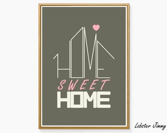 Home sweet home Original Wall Art, Instant Download