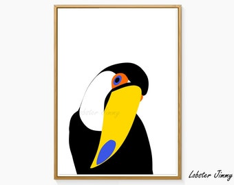 Toucan Art Print, Printable Art, Birds Wall Print, Tukan, Tucan Print, Instant Download, Nursery Wall Decoration