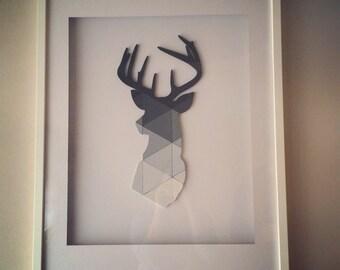 deer in gradient